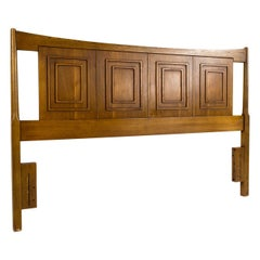 Broyhill Sculptra Mid Century Full Headboard with Footboard