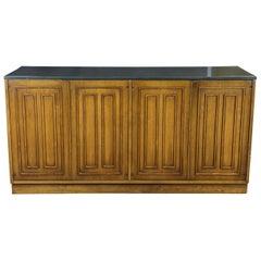 Broyhill Sculptra Walnut Slate Mid-Century Modern Buffet Sideboard Credenza MCM