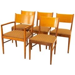 Broyhill Style Midcentury Walnut Dining Chairs, Set of 5