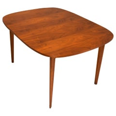 Broyhill Walnut Dining Table with One Leaf