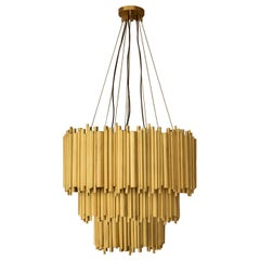 Brubeck Chandelier in Brass with Gold-Plated Finish