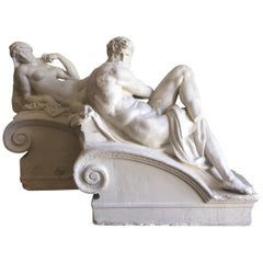 Brucciani Plaster Sculptures from the Tomb of Medici by Michelangelo