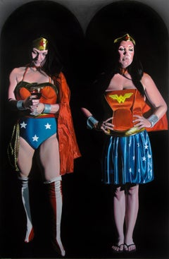 Contemporary Surrealist Hyperrealist Large Figures Super Hero Wonder Woman Women