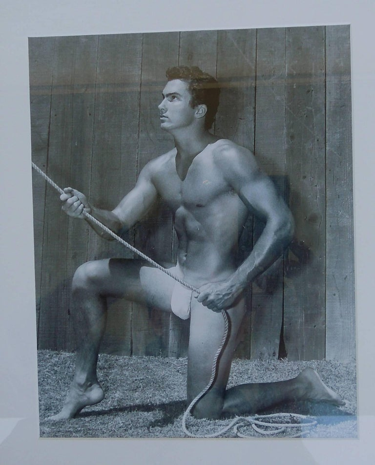 Mid-Century Modern Bruce Bellas AKA Bruce of L.A. Original 1950s Male Beefcake Photo Model Bill For Sale
