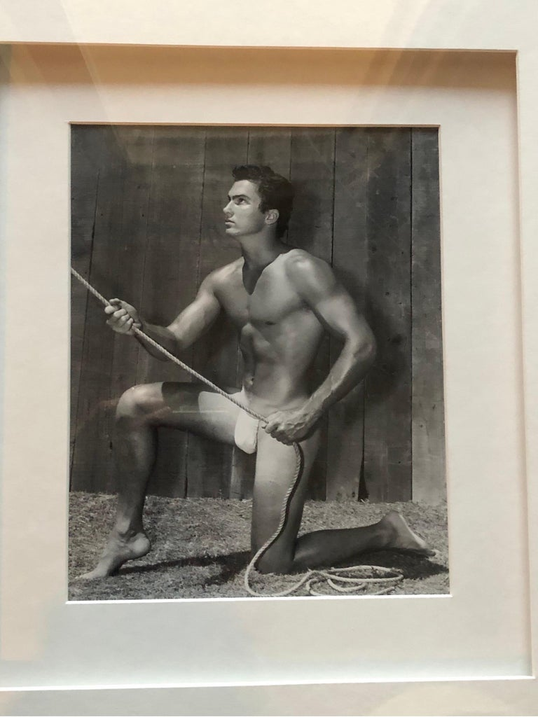Bruce Bellas AKA Bruce of L.A. Original 1950s Male Beefcake Photo Model Bill In Good Condition For Sale In Palm Springs, CA