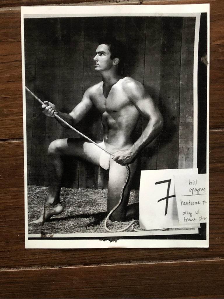 Mid-20th Century Bruce Bellas AKA Bruce of L.A. Original 1950s Male Beefcake Photo Model Bill For Sale