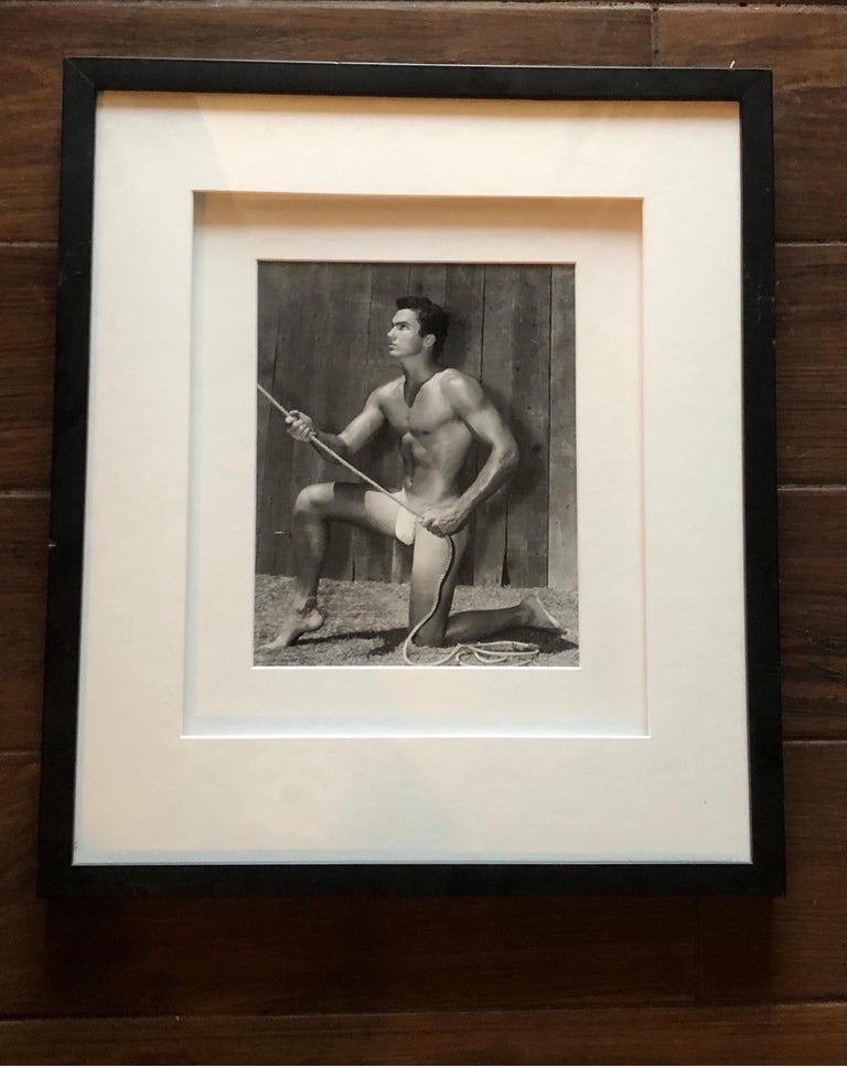 Bruce Bellas AKA Bruce of L.A. Original 1950s Male Beefcake Photo Model Bill For Sale 1
