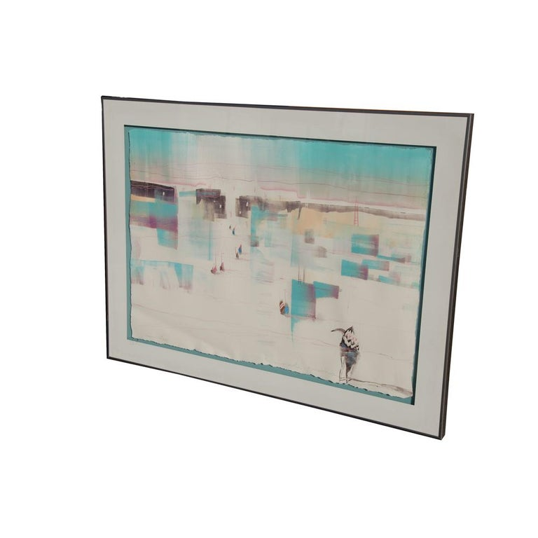 Post-Modern Bruce Carlton Nowlin Monotype Lithograph For Sale