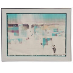 Bruce Carlton Nowlin Monotype Lithograph