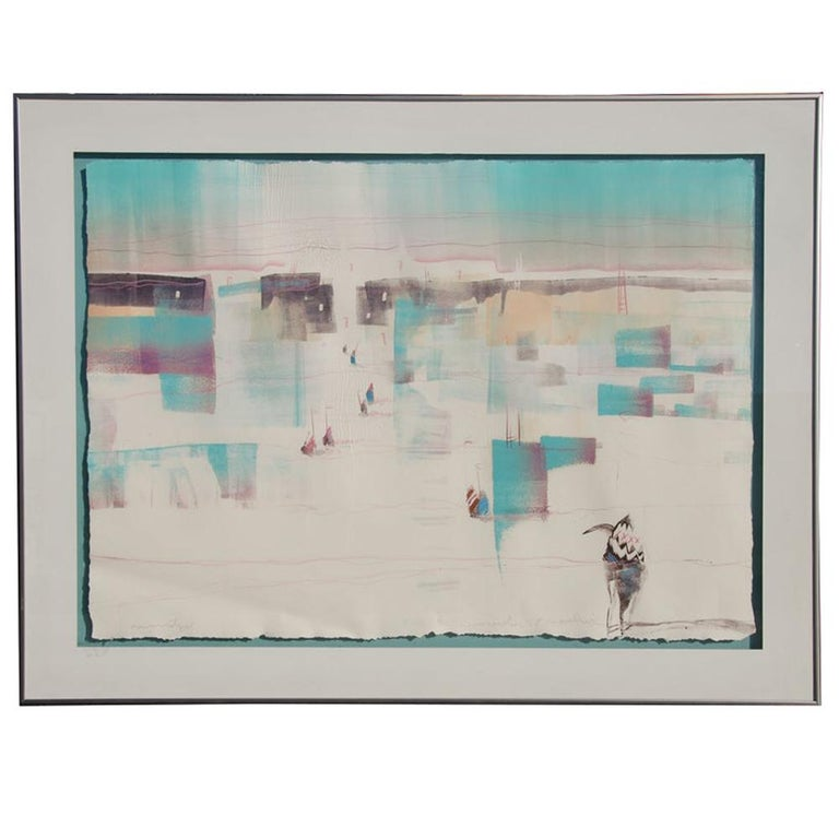 Bruce Carlton Nowlin Monotype Lithograph For Sale
