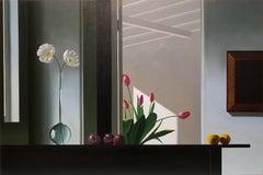 Interior with Sunlit Tulips