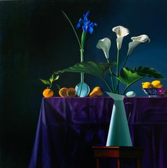 Still Life with Calla Lilies in Pitcher