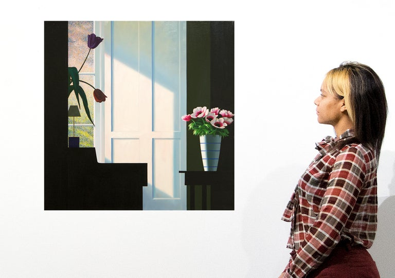 Untitled, Interior with Lit Anemones and Tulips in the Shadow For Sale 2