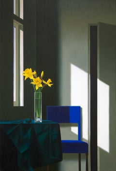 Untitled, Interior with Lit Anemones and Tulips in the Shadow
