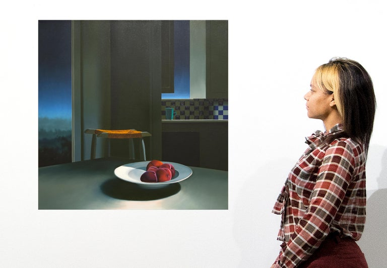 Untitled, Interior with Night Sky and Bowl of Peaches For Sale 3