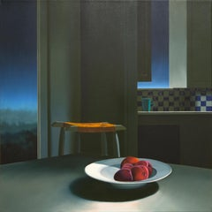 Untitled, Interior with Night Sky and Bowl of Peaches