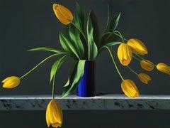 Yellow Tulips on Ledge