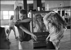 Cathy Fixing Her Hair In Cigarette Machine Mirror, Coney Island