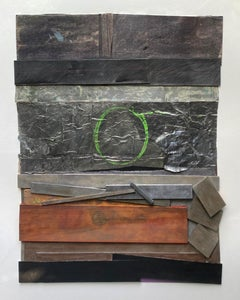 """Poem of the Green Circle"" Bruce Dorfman Mixed Media Abstract Painting"