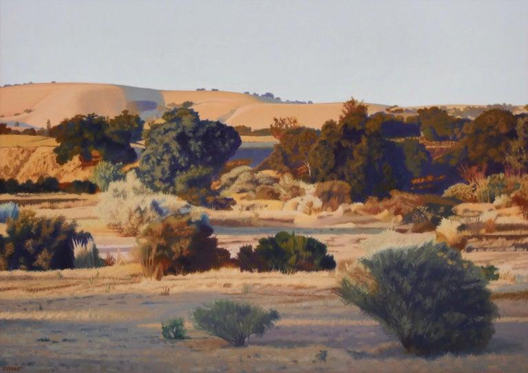 Bruce Everett Landscape Painting - Salinas River Bed