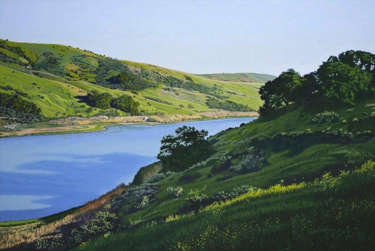 Bruce Everett Landscape Painting - Whale Rock Reservoir