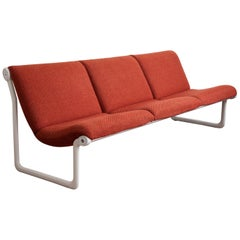 Bruce Hannah and Andrew Morrison for Knoll Sling Settee Sofa Design, 1970s