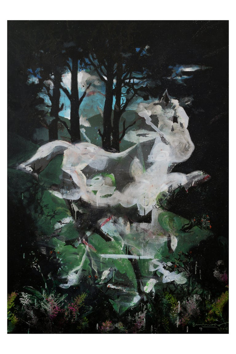 Ghost Horse - Mixed Media Art by Bruce Helander