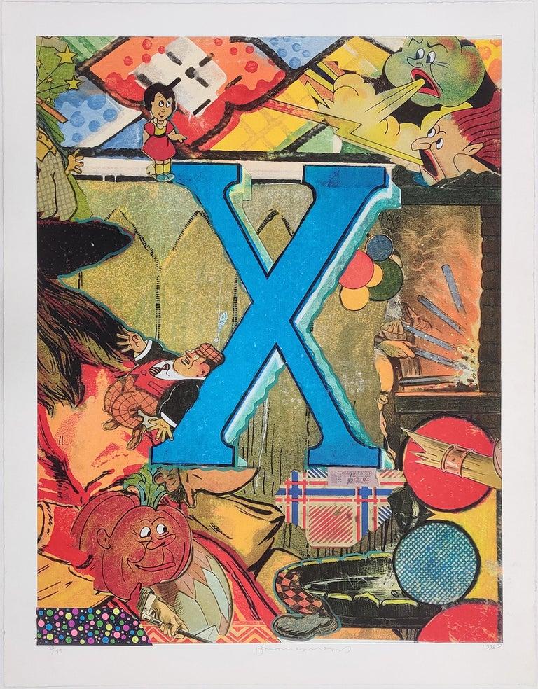 Bruce Helander Figurative Print - LOVE LETTERS: LETTER X