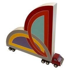 Bruce Houston, Painted Sculpture, Frank Stella Truck, Pop Art, Signed