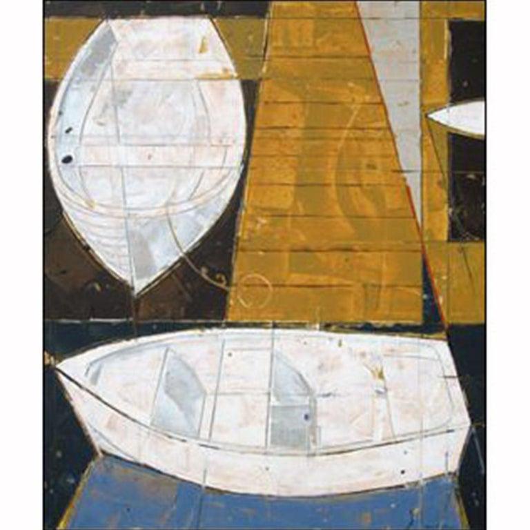 Dockside  Vessel Series 4 - Mixed Media Art by Bruce Lauritzen