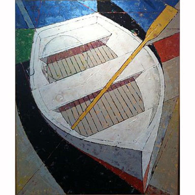 Rowboat III Vessel Series 3 - Mixed Media Art by Bruce Lauritzen