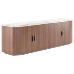 Bruce Low Sideboard Contemporary by Fabio Arcaini Marble Walnut