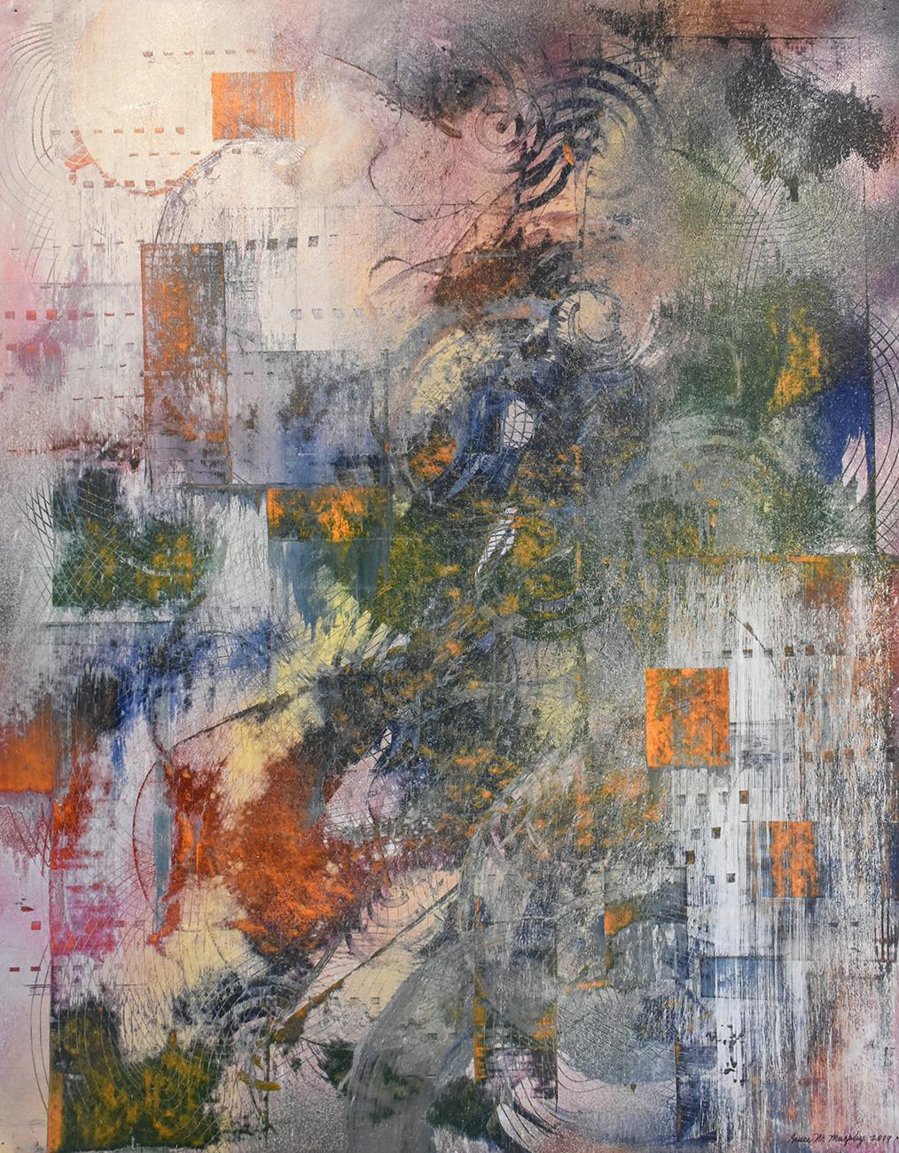 Inside the Canine Mind: Abstract Painting in the Style of Gerhard Richter