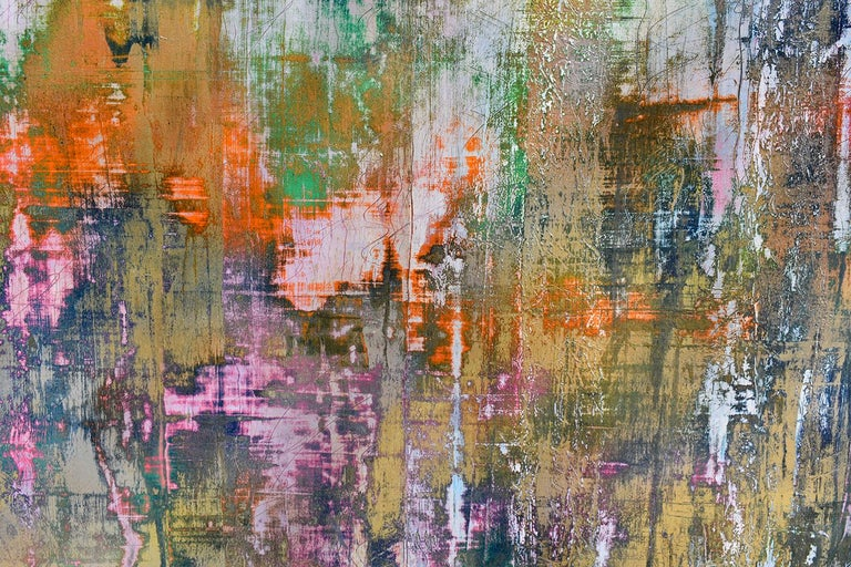 Learning the Indecipherable (Gerhard Richter Style Abstract Painting on Paper) For Sale 3