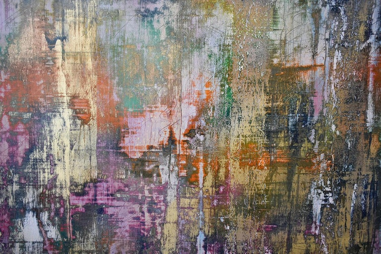 Learning the Indecipherable (Gerhard Richter Style Abstract Painting on Paper) For Sale 4