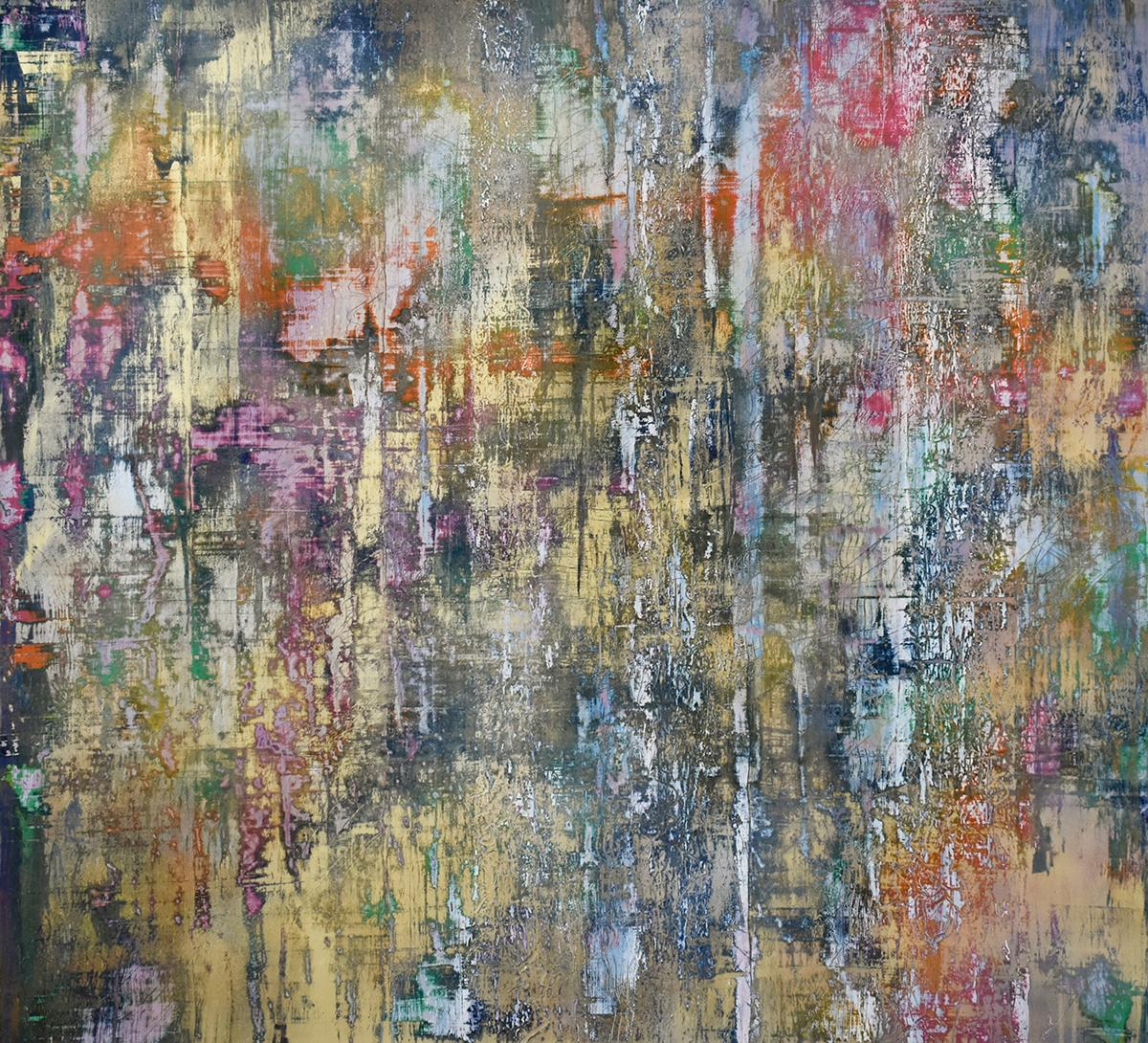 Learning the Indecipherable (Gerhard Richter Style Abstract Painting on Paper)
