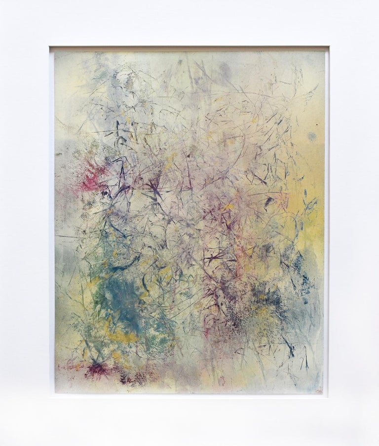 Life Does Not Get Less Strange (Abstract Expressionist Painting in Pastels Hues) - Art by Bruce Murphy