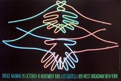 1985 After Bruce Nauman 'Big Welcome' Pop Art Multicolor,Blue,Green USA Offset