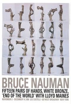 1996 After Bruce Nauman 'Fifteen Pairs of Hands' Pop Art Brown Offset Lithograph