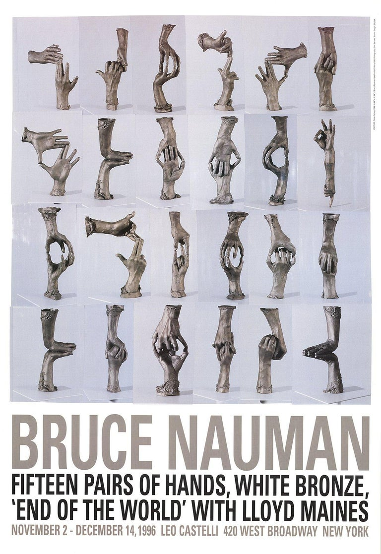 1996 After Bruce Nauman 'Fifteen Pairs of Hands' Pop Art Brown Offset Lithograph - Print by Bruce Nauman
