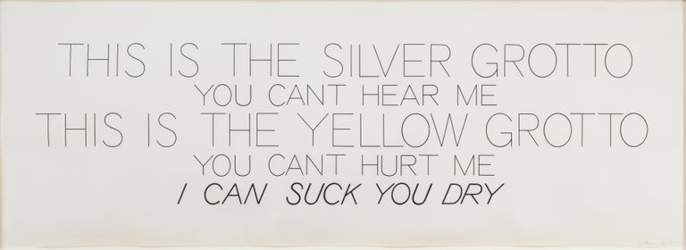 Silver Grotto/Yellow Grotto - Print by Bruce Nauman