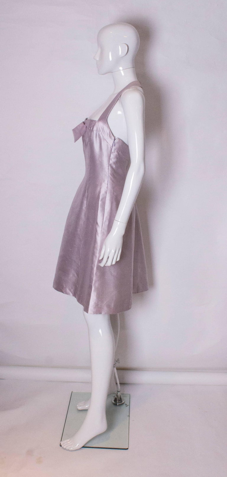 Bruce Oldfield Silk Cocktail Dress In Good Condition For Sale In London, GB