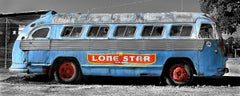 Lone star bus - blue, Photograph, Archival Ink Jet