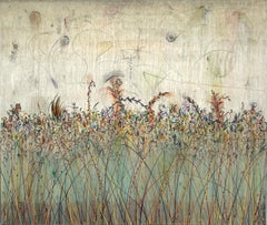 JuJu's Wild Flowers - Large Painting (stretched and ready to hang)