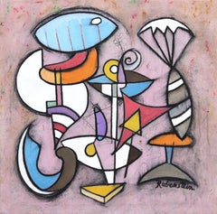 Pink Eye  - original cubist painting