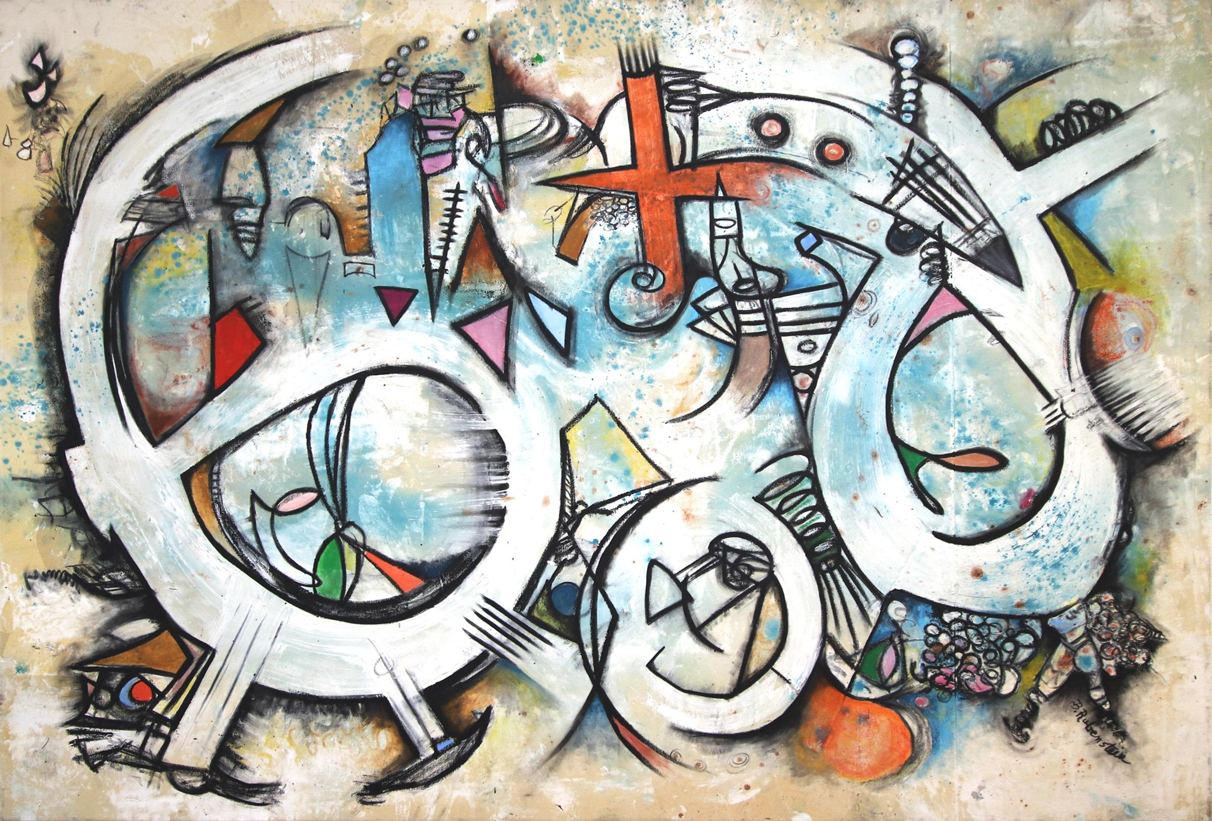 Six Sicks - large original painting