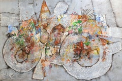 The Bicycle Thief  - large original mixed media painting