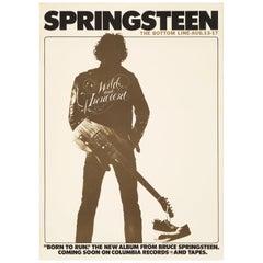 Bruce Springsteen Original Vintage Concert Poster, The Bottom Line, NY, 1975