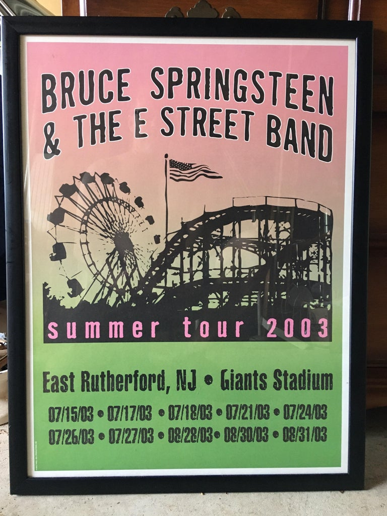 Bruce Springsteen Summer Tour 2003 original poster. Nice colors and design!