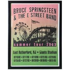 Bruce Springsteen Summer Tour 2003 Poster